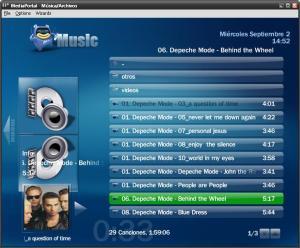 Reproducción de MP3 en MediaPortal