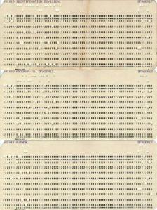 Las tres primeras tarjetas de un programa Cobol: la Identification Division