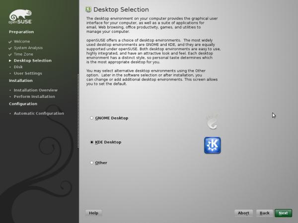 Selección de escritorio durante la instalación, ¿KDE o GNOME?